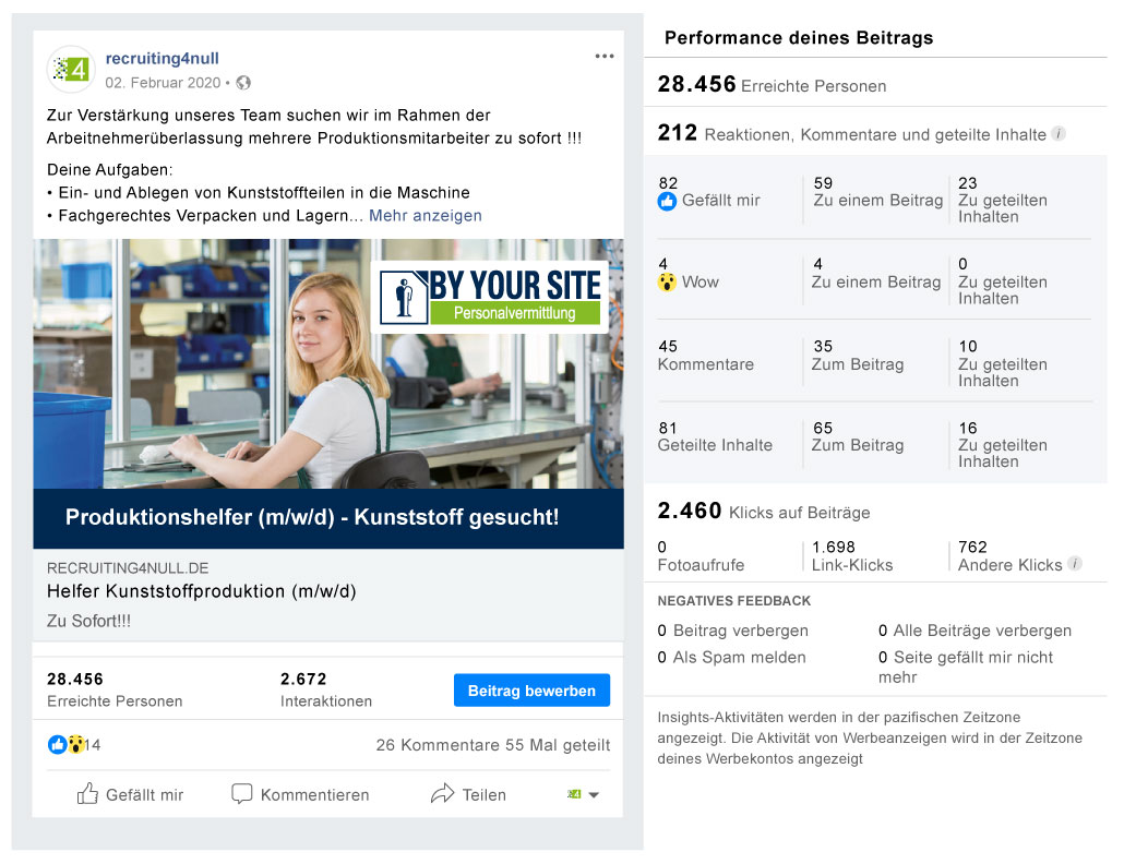 Facebook Referenzbild Kunde By Your Site Personal - recruiting4null